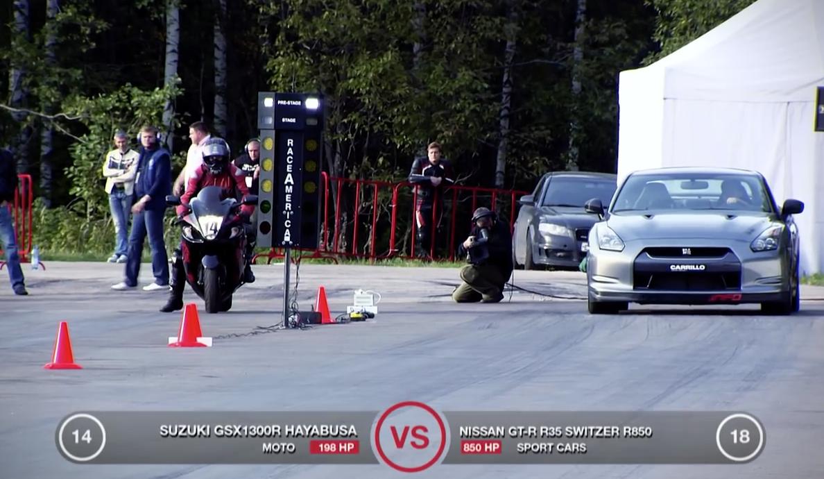 画像2: 激走ムービー!日産GT-R vs Suzuki 隼