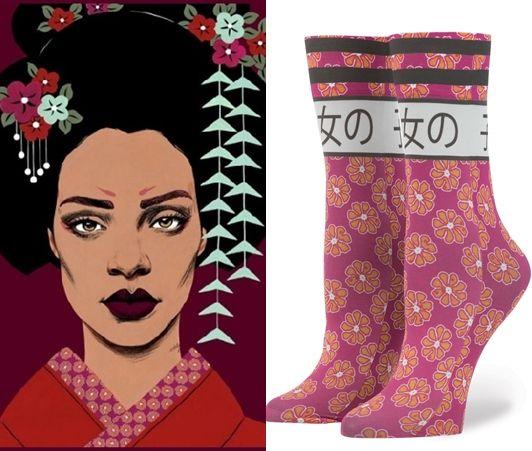 リアーナ Rihanna スタンス Stance 靴下 ソック 日本語 デザイン 可愛い 着物