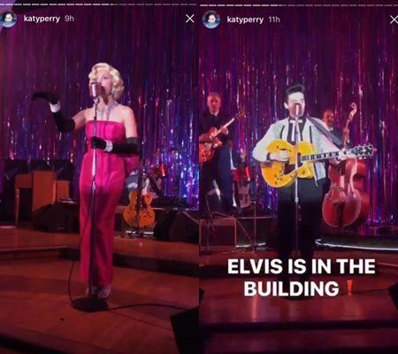 ケイティ・ペリー Katy Perry ハロウィン バースデー パーティ マリリン・モンロー エリヴィス・プレスリー そっくりさん