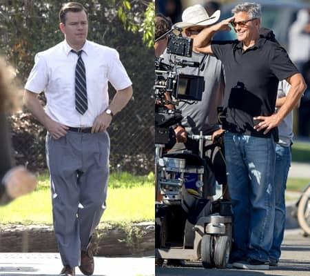 マット・デイモン Matt Damon ジョージ・クルーニー George Clooney 映画 サバ―ビコン 撮影風景  現場 セット
