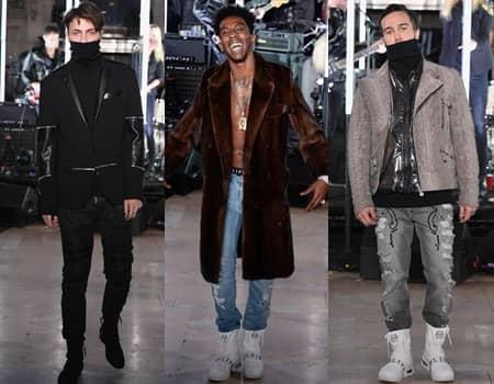 NY ファッションウィーク 2017 秋冬 フィリップ・プレイン Philipp Plein ランウェイ モデル アンワー・ハディッド ラッパー デザイナー ピート・ウェンツ
