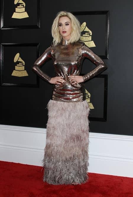 ケイティ・ペリー Katy Perry 第59回 グラミー賞 2017年 レッドカーペット 着用ドレス ブランド