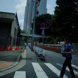 画像: 新宿中央公園近くで