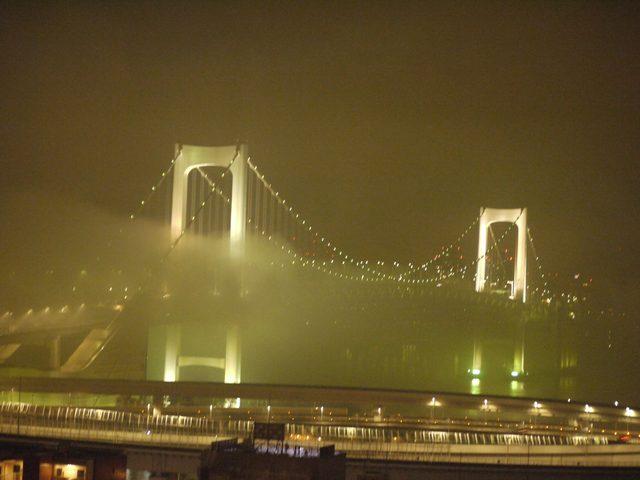 画像: 雨に煙る。