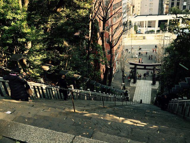 画像: パトロールの一環で、愛宕神社の出世階段駆け上がってみた。