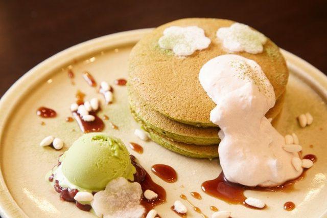 画像: ココノマパンケーキ 禅 新作抹茶のパンケーキ