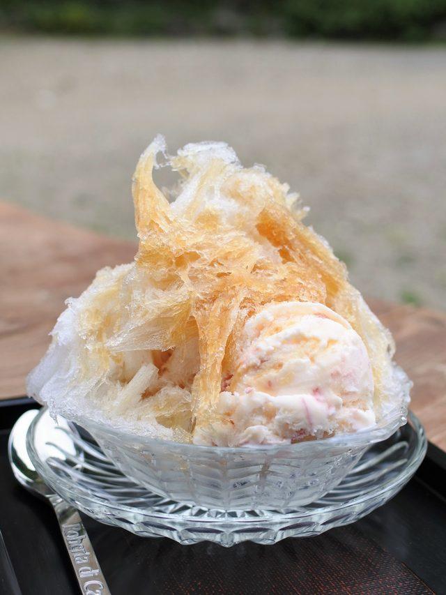 画像: かき氷スペシャル:〜楓シロップ(100% カナディアンメープル )とさくらのアイスクリームで600円!!