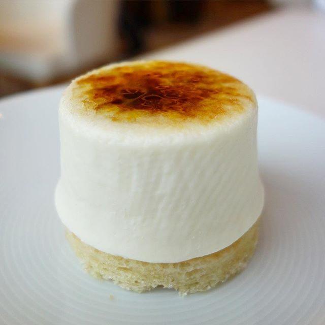 画像: コットンソフトチーズケーキ。クロナッツ®で有名なニューヨーク発のドミニクアンセルですが、ニューヨークチーズケーキではなく、レアチーズケーキです。リコッタ、フロマージュブラン、生クリーム、メレンゲのレアチーズケーキ。レモンをきかせ、ビスキュイダマ ... instagram.com
