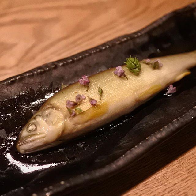 画像: 鮎のオイル漬け揚げ。人呼んでオイルサーディンならぬオイルアユディンw 頭からはらわた尻尾まで骨ごと丸ごと食べる川魚だからこその美味しさを味わえる料理だあ! 鮎がスフレみたいにふっくらしていて、そりゃあもうアメージングうめ〜じんぐデス! www.instagram.com