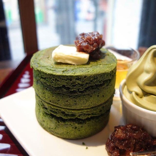画像: #抹茶のホットケーキ  #抹茶ソフトクリーム #あんバター で楽しむ! あえて、パンケーキの呼ばない気持ちがジワジワくる(笑) #アメージングおすすめーじんぐ  #京都 #三条 #kyoto #maccha #hotcake www.instagram.com