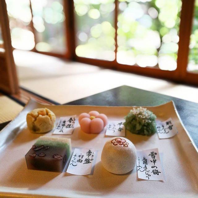 画像: #上生菓子 と。 #茶寮宝泉  #kyoto www.instagram.com
