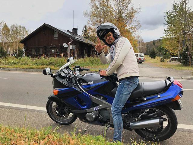 画像: #北海道 といえば #バイク でしょ!(笑) この先の峠は雪らしい❄️( ̄◇ ̄;) #移住 したら? www.instagram.com