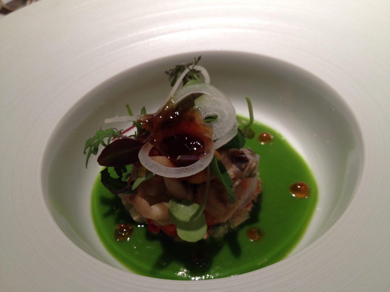 画像: 車海老と蛤、アゲマキ貝のサラダ