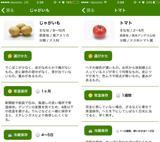 画像2: 野菜の情報は全部で33種類!
