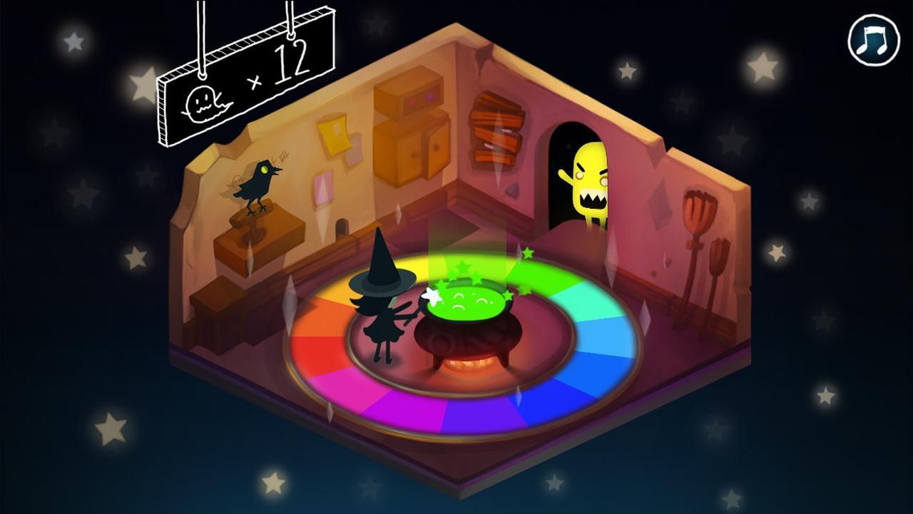 画像4: ハロウィンにもぴったり!色を操る魔女とおばけ退治!