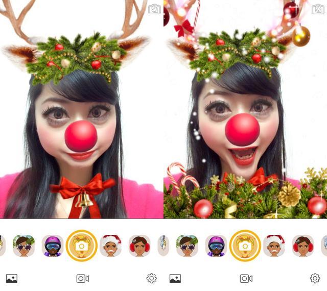 画像1: 楽しいクリスマスフィルターで変身!