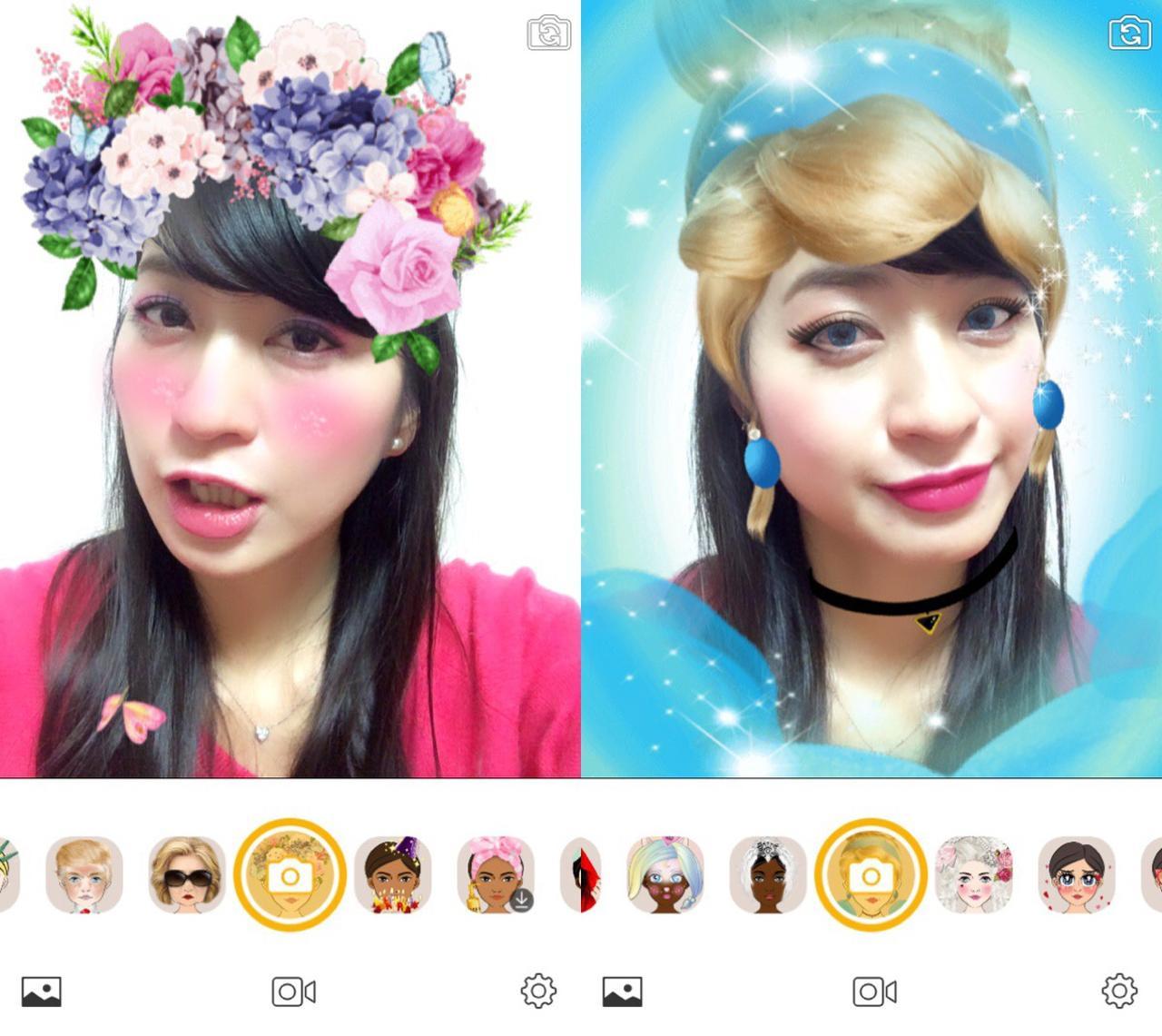 画像2: アプリを立ち上げて写すだけで顔を認識してデコレーション!