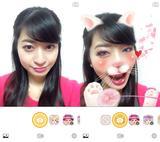 画像1: アプリを立ち上げて写すだけで顔を認識してデコレーション!