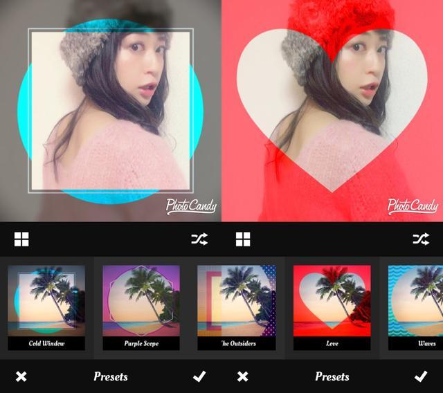画像2: プリセットがたくさん!写真を選んでプリセットを選ぶだけでもできちゃう!