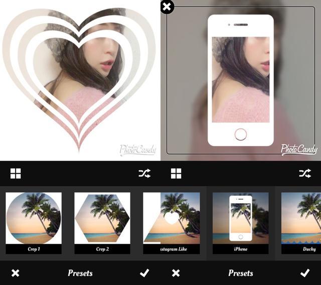 画像1: フィルターやシェイプ、背景を組み合わせてオリジナルのデザインも作れます。