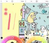 画像: よくみると右側のネズミや鳥、はみ出したり塗れてなかったりとラフ塗りです。