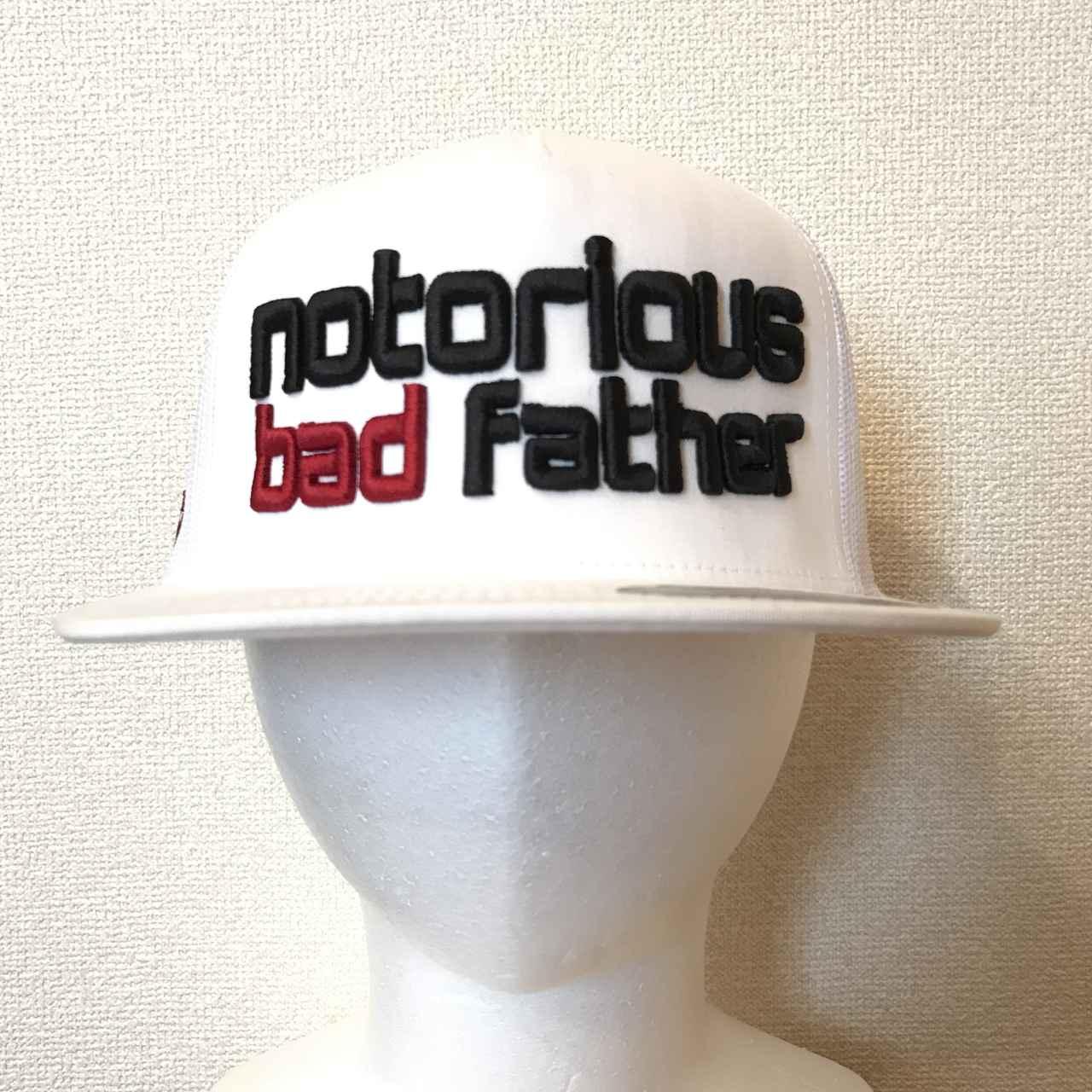 画像: bad father mesh cap white / ¥7,560