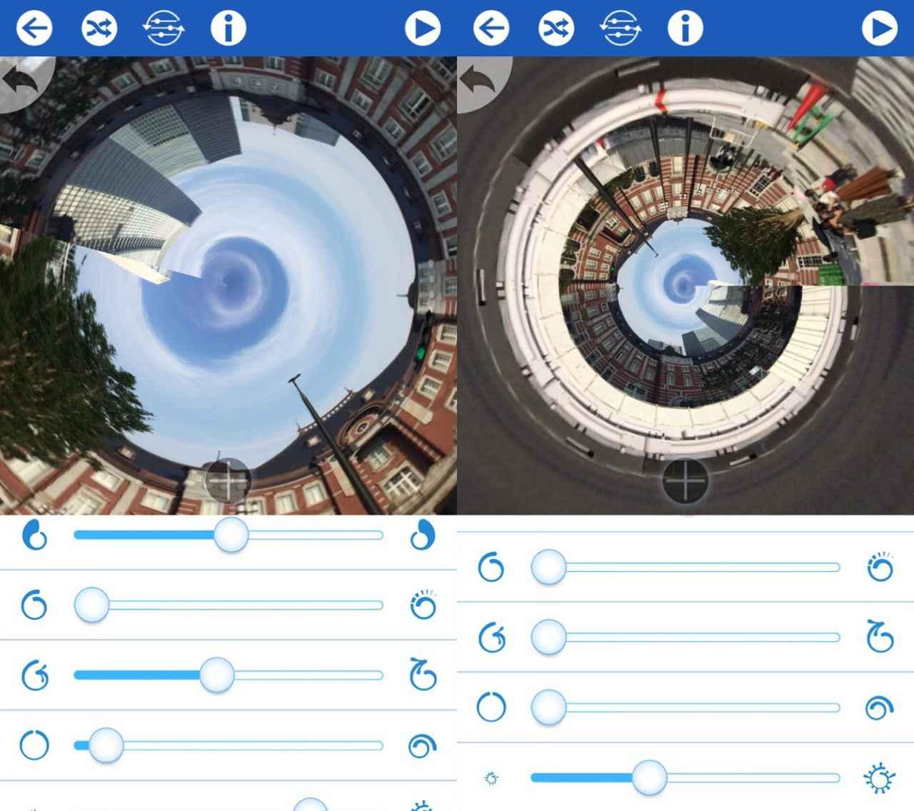 画像3: 読み込んで直感で操作するだけで360°写真が完成!