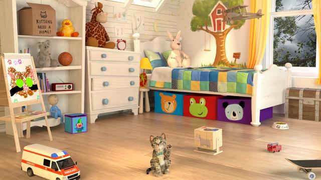 画像2: 子猫になった気分!肉球でお絵かきも!