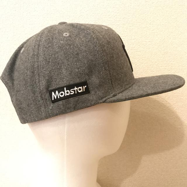 画像1: mobstar wool cap grey