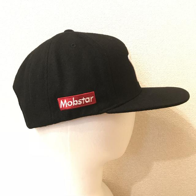 画像1: mobstar wool cap black