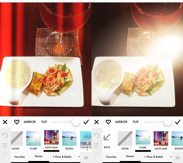 画像: インスタントカメラにありそうな光の入れ込みも可能!