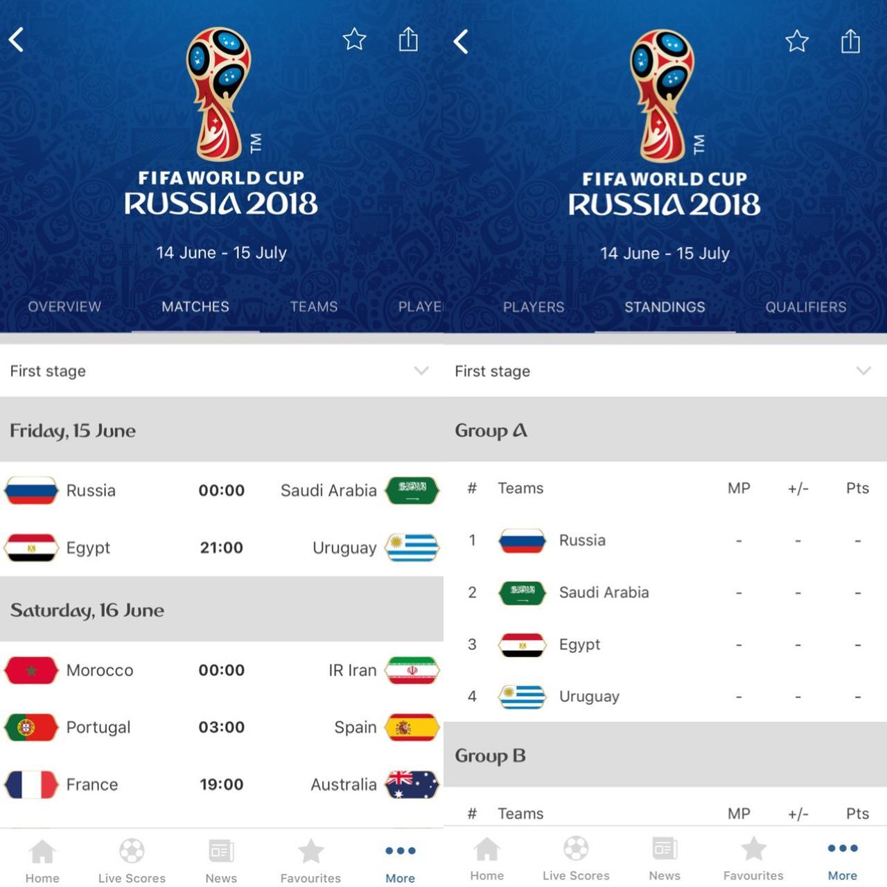 画像2: FIFAの大会だからまずは公式アプリ!『2018 FIFA World Cup Russia™』