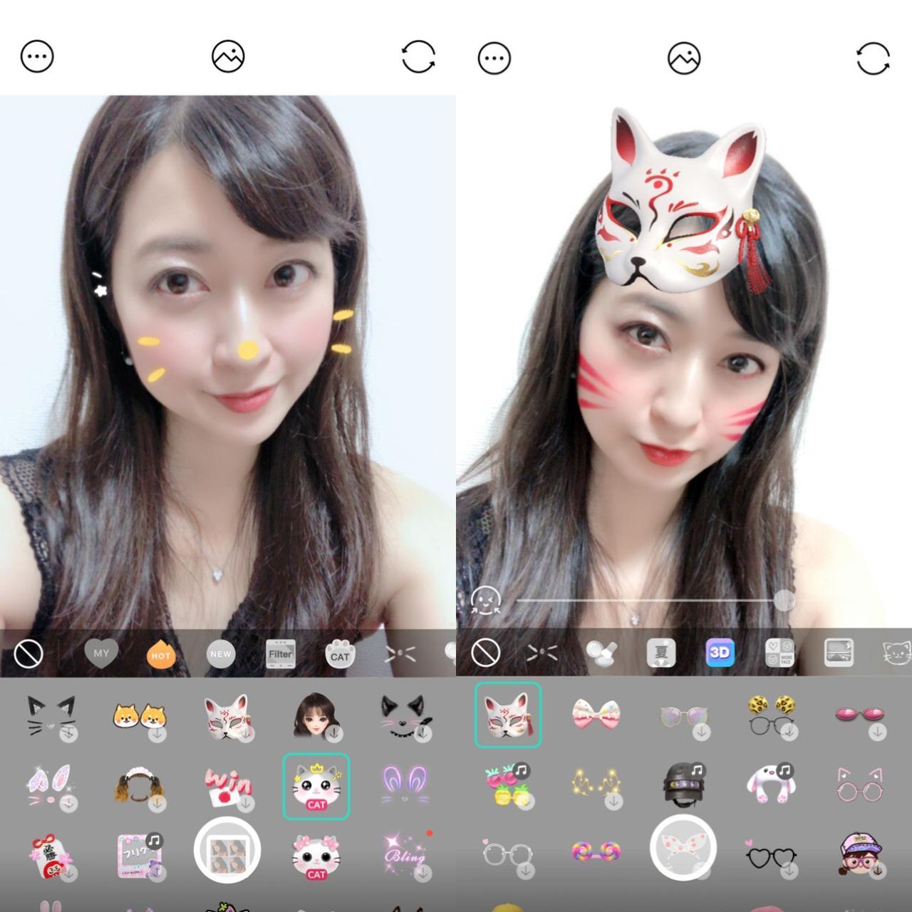 画像1: シンプル顔認識スタンプから3Dスタンプ、インスタント風まで幅広いフィルター!