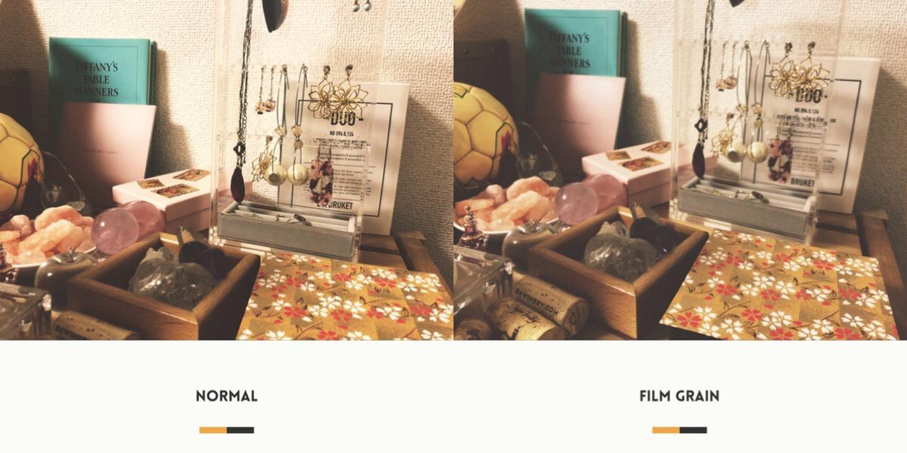 画像1: 設定で色や質感を変えて撮影することもできます。
