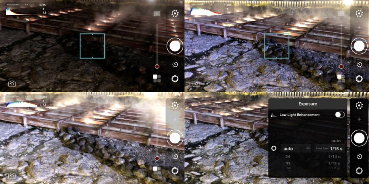 画像2: ISO感度を上げて暗いところでも手ブレを少なくして撮影しやすい。