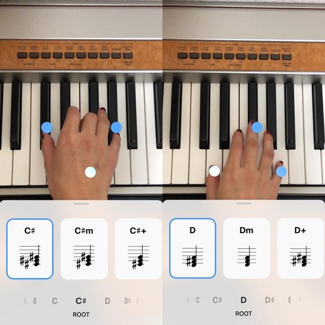 画像3: マーカーが出たところを弾くだけで正しい和音が演奏できる!