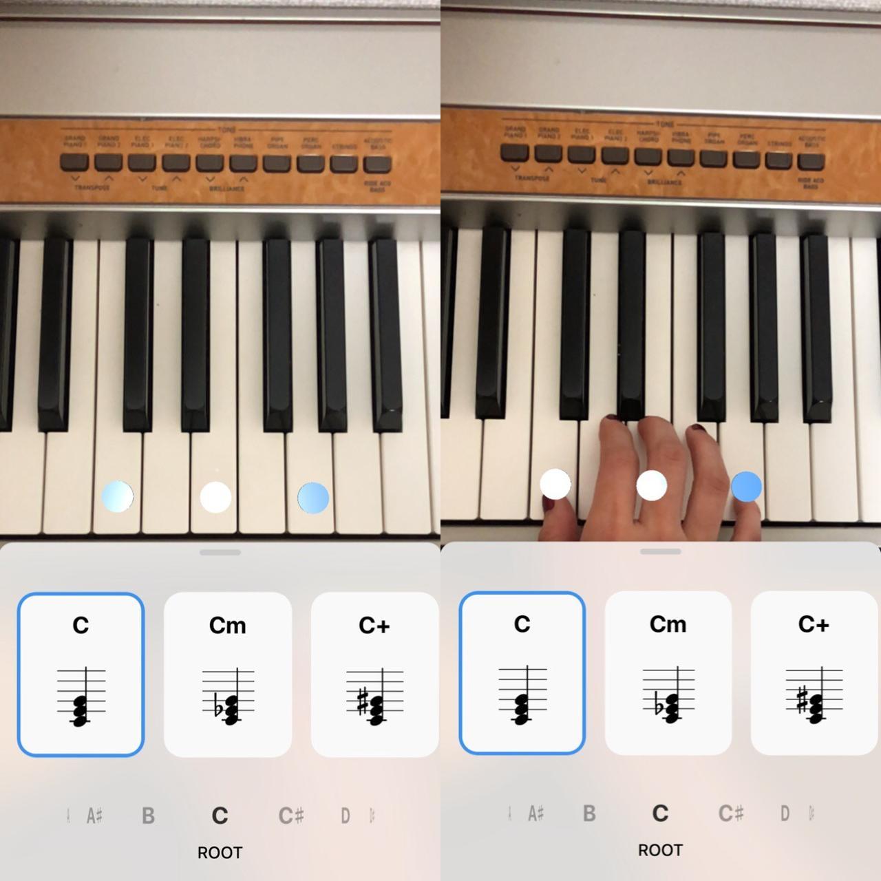画像1: マーカーが出たところを弾くだけで正しい和音が演奏できる!