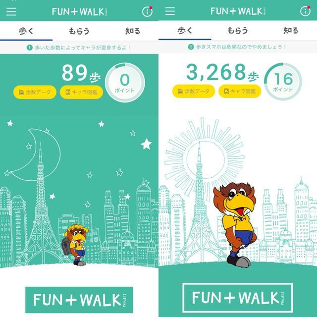 画像1: たくさん歩くとキャラクターが変身!
