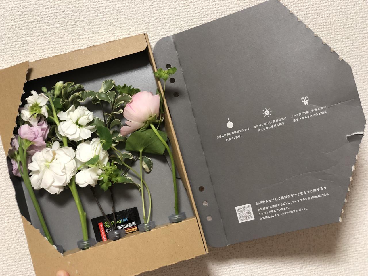 画像2: お花が届いた!不在でも受け取ることができるポスト投函可能なサイズ。