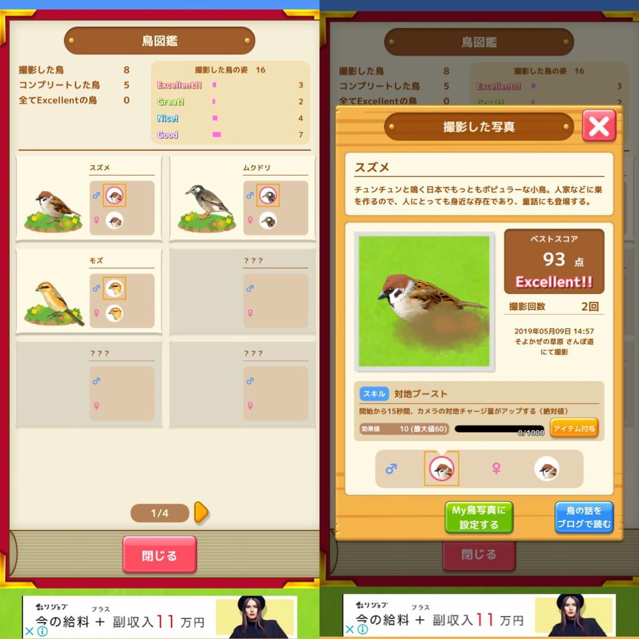 画像: 鳥図鑑がどんどん埋まっていく楽しみ。鳥の豆知識も!