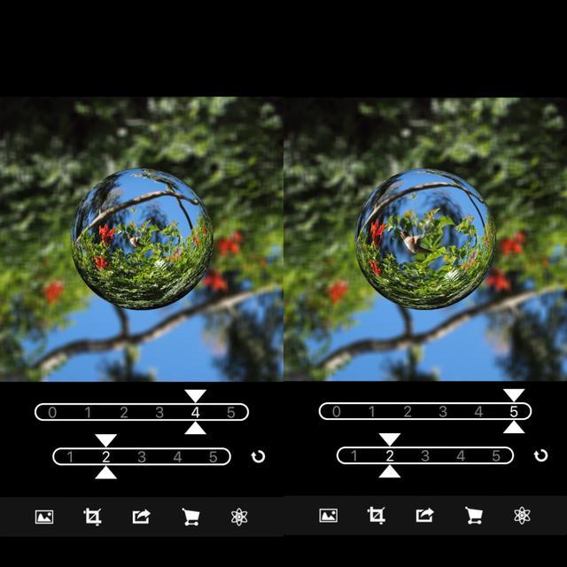 画像1: 湾曲や球体の大きさを調整して好みの仕上がりに。