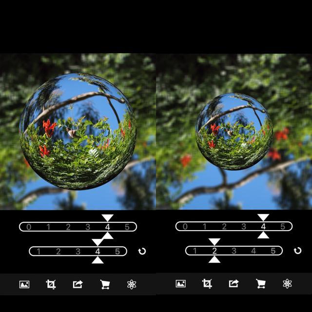 画像3: 湾曲や球体の大きさを調整して好みの仕上がりに。
