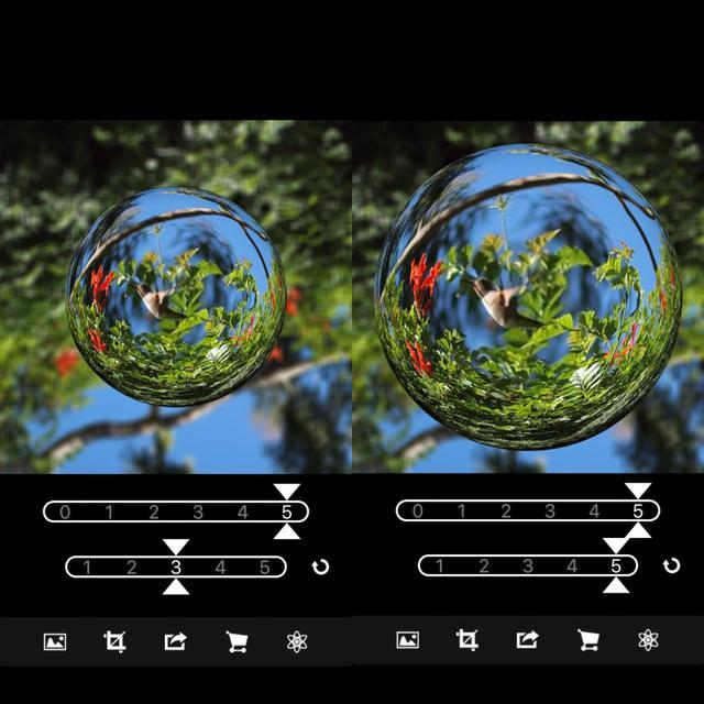 画像2: 湾曲や球体の大きさを調整して好みの仕上がりに。