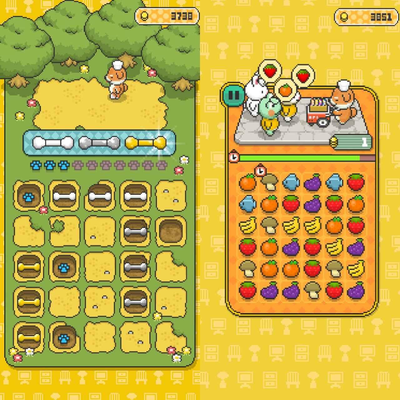 画像1: 骨やコインはゲームで大量GETが効率的!