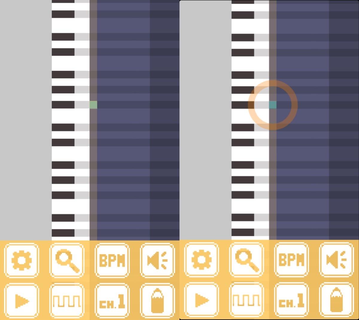 画像1: ファミコンっぽい音が作れちゃう!工夫次第で面白い曲作りができそうなアプリ。
