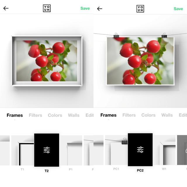 画像2: まずは写真を選んで額縁・フレームを設定。フィルターはケースバイケースで。