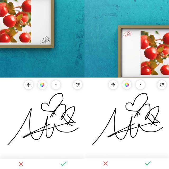 画像2: さらに手を加えて写真を強調するのもあり。サインも入れられます。