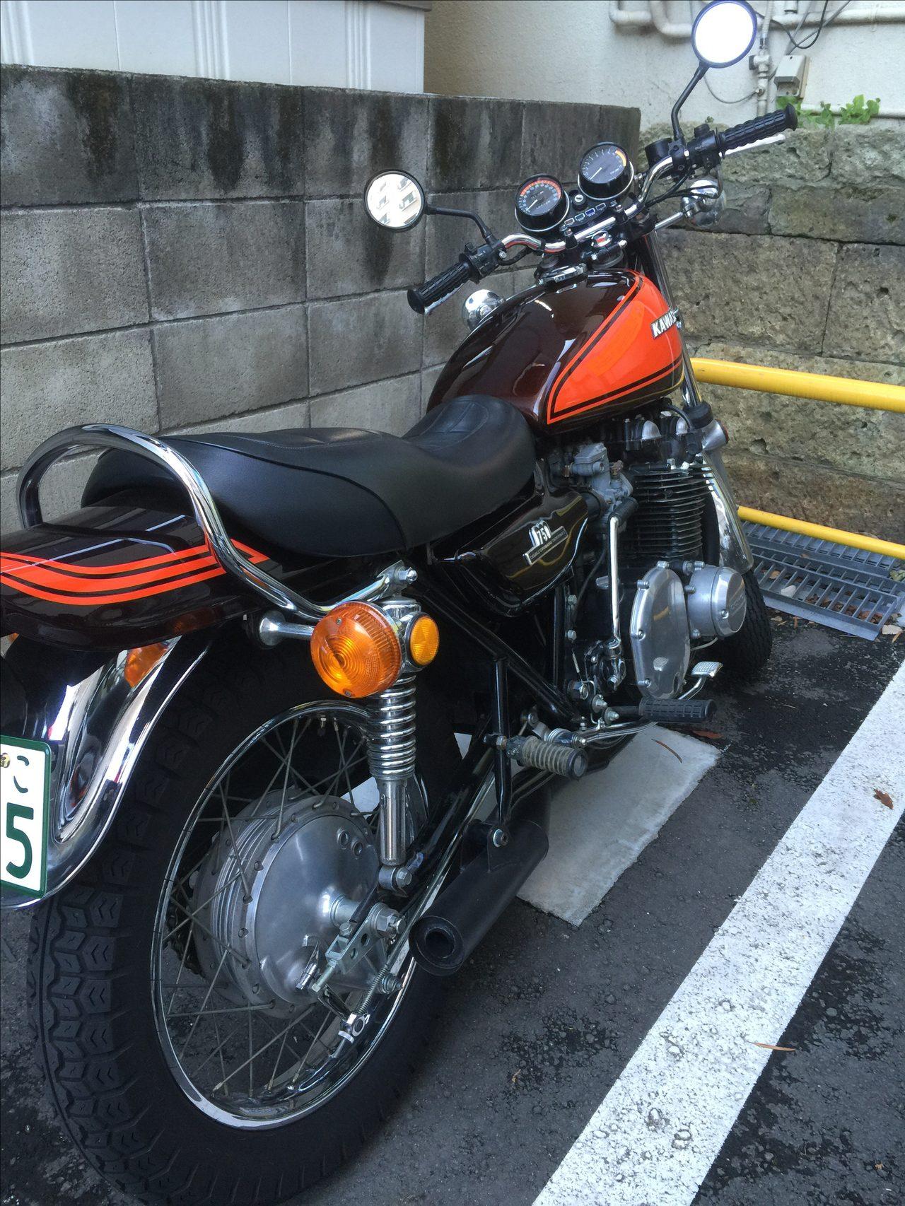 画像: バイク通勤。