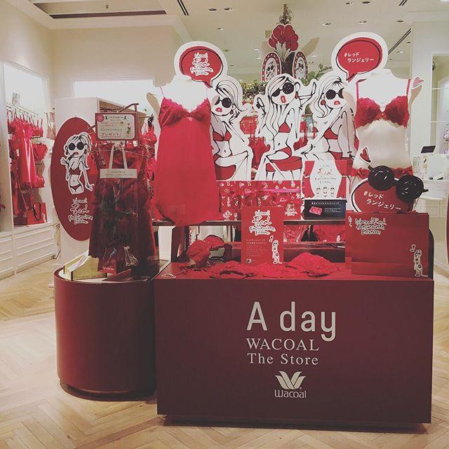 画像: 全国のワコールが赤に染まる⁉︎ 本日よりXmasをイメージした赤いランジェリーがレッドランジェリーが全国のワコール店舗で展開されます。一足お先に公開された丸の内店へカワコレモデル&インフルエンサーの皆さんと行って来ました! フォトスポットもあって、 ... www.instagram.com