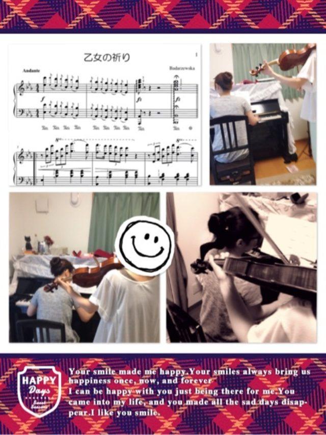 画像: バイオリンとセッション♪